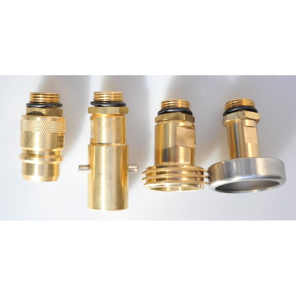 Kit adaptateur de réservoir GPL avec filtre fritté, set international (4 pièces) Bouteille de gaz de réservoir