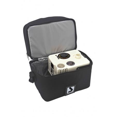 Scoprega Bravo - Gonfleur Pompe à air électrique - GE 21 Pompe avec batterie et coupure de pression