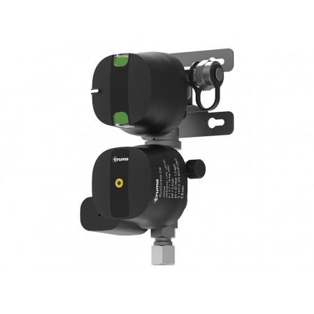 Truma DuoControl CS, vertical - Fonctionnement à deux bouteilles Duo Control