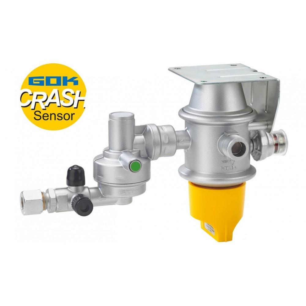 GOK Caramatic DriveTwo, horizontal - Two-bottle operation Gas pressure regulator Crash sensor