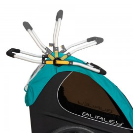 Remorque de vélo d'enfant et poussette Burley Double Buggy Encore X