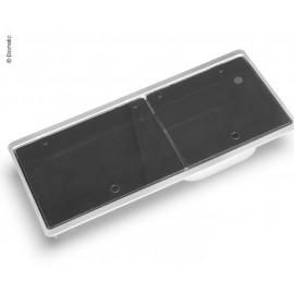 Kocher-Spüle-Kombination mit 2-teiliger Glasabdeckung, Küche Gaskocher Dometic
