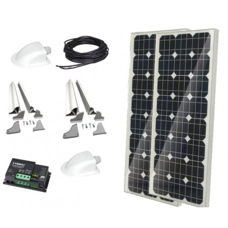 """Solar system """"Complete set CB 200"""" from Carbest 12V/200W"""