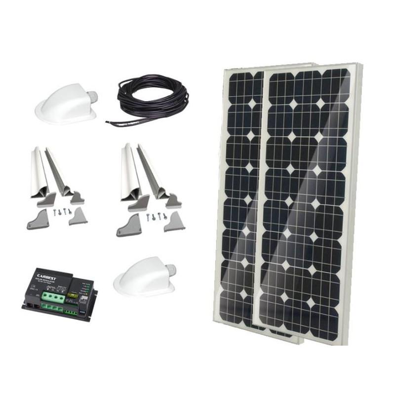 Aluminium Spoiler profils//système de montage pour un panneau solaire camping-car caravane