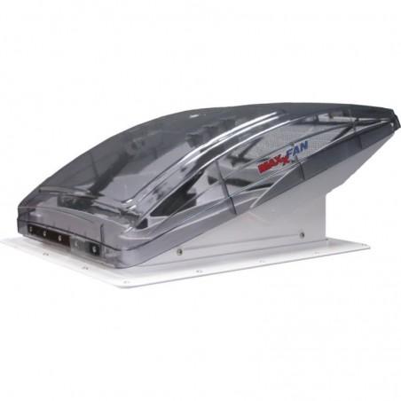 Dachhaube mit Raincover Dachventilator MaxxFan Deluxe Rauchglas