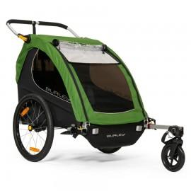 Burley Kinderfahrradanhänger und Kinderwagen Encore Doppelbuggy