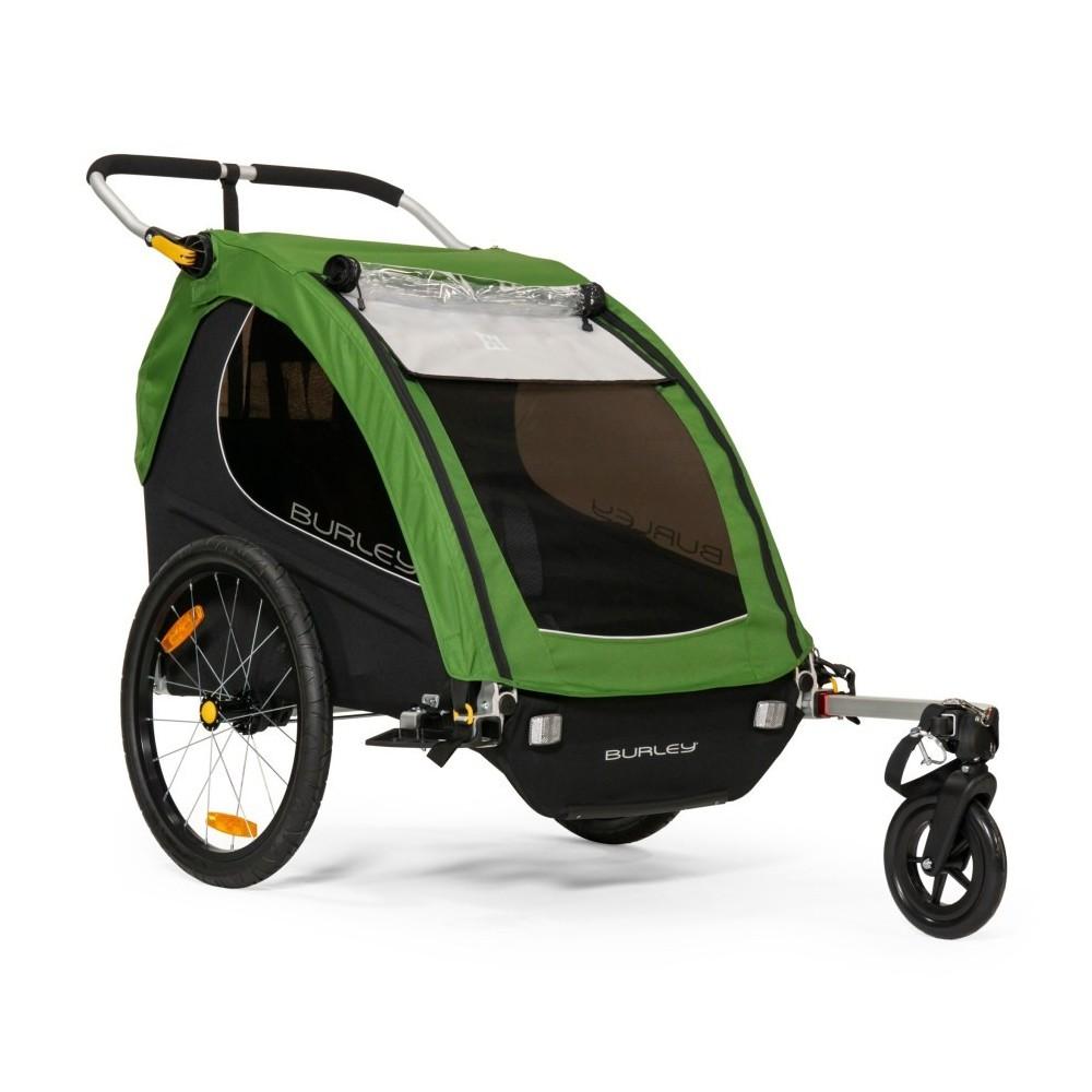 Remorque de vélo d'enfant et poussette Burley Double Buggy Encore