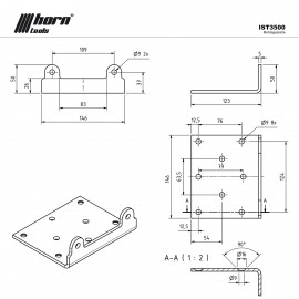 Seilwinden Montageplatte HPA3500 horntools