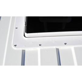 Dachhaube mit Raincover Dachventilator MaxxFan Deluxe Rauchglas klar