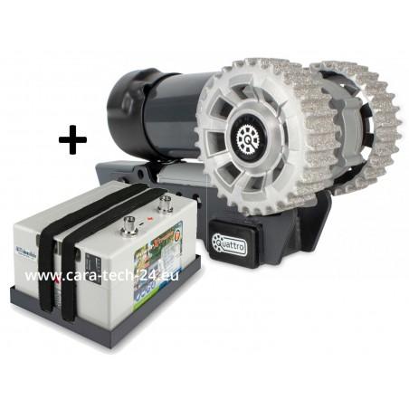 Manoeuvring aid Mover kit X30 caravan - Quattro Diamond complete package PowerXtreme X30 - purple line