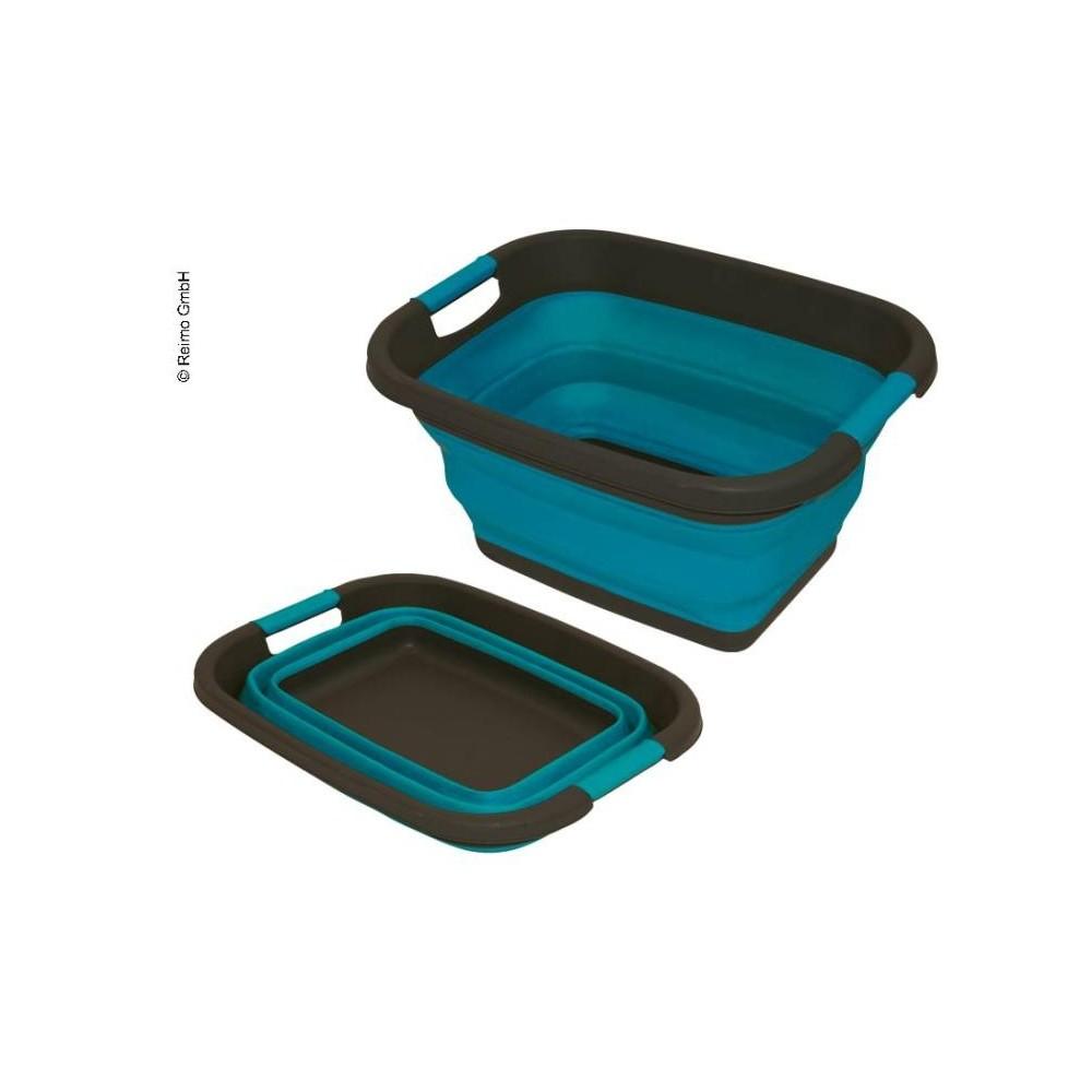 Baignoire pliante en silicone bleu pétrole L49 x H7/26cm x P37,5