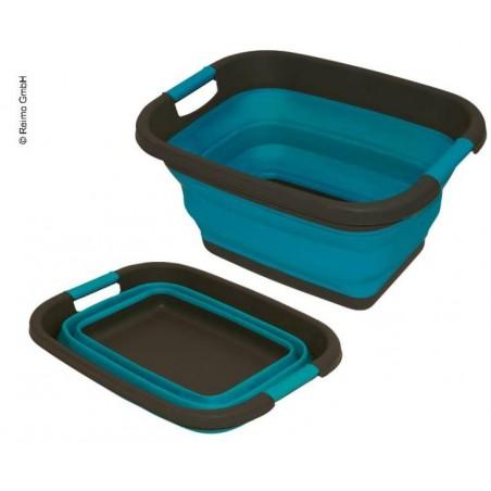 Silicone folding bath tub blue petrol W49 x H7/26cm x D37,5