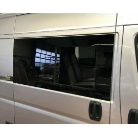 Baie vitrée coulissante Fiat Ducato à partir de 07, 1434x665, avant gauche, fenêtre Carbest