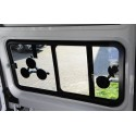 tinted tempered sliding window Fiat Ducato from year 07, 1400x665, front left, Carbest window