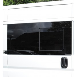tinted tempered sliding window Fiat Ducato from year 07, 1400x665, front right, Carbest window