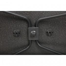 Klapptisch -  Westfield Performance Aircolite 80, 80x60cm, black line, wasserfest, höhenverstellbar