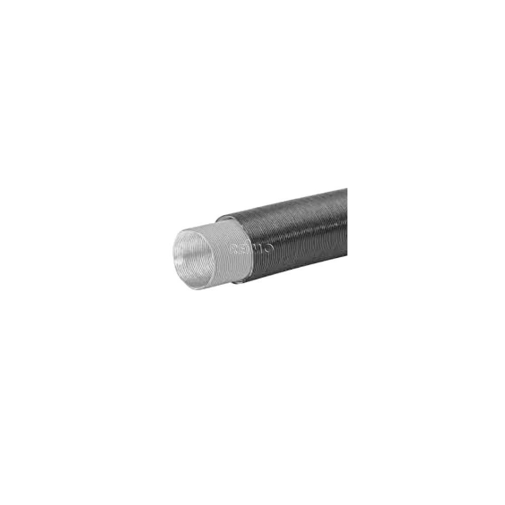 Siphon pipe insulated AD75mm, warm air guide heating 2m