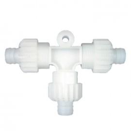 Connecteur en T pour tuyau flexible d'eau ø 10mm X-Fix
