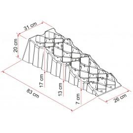 Auffahrkeil Stufenkeil Fiamma 5t, Level Up Premium