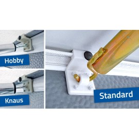 SHS Bracket Vario Clip roof bar holder set of 3