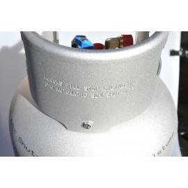 Alugas - bouteille de gaz en alu 14 kg remplissage TRAVELmate