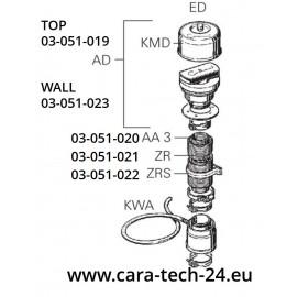 Cheminée de toit DKC 2 cpl. 55/80 mm pour les systèmes de chauffage Truma