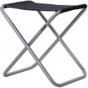 Camping stool Westfield Stool XL, charcoal grey, up to 100kg load - black