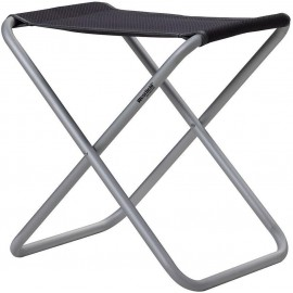 Campinghocker Westfield Stool XL, charcoal grey, bis 100kg belastbar- schwarz