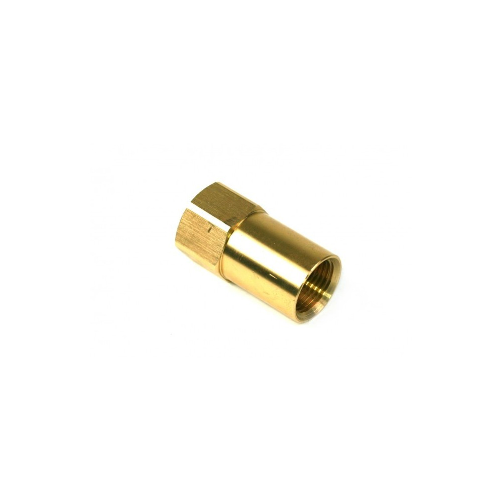 """Adapter Direktbetankung Gasflasche - G 3/4 UNF auf W21,8 x 1/14"""" LH - 68mm"""