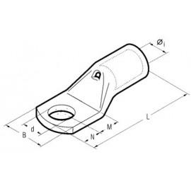 Cosse de câble 50mm2 M8 Press non isolée Cosse de câble tubulaire