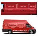 tinted tempered sliding window Fiat Ducato from year 07, 1360x585, Centre right, Carbest window