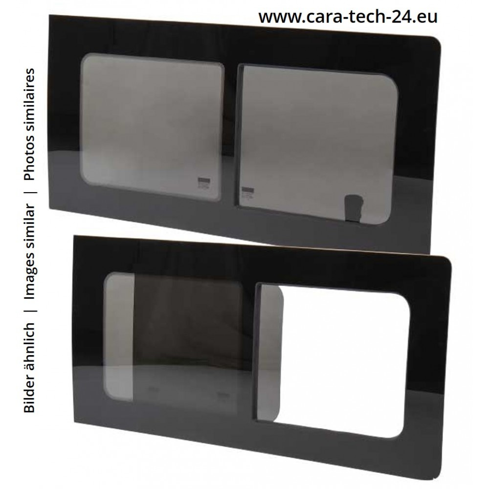 tinted tempered sliding window VW T5 T6 from year 04, 1135x585, front right, Carbest window