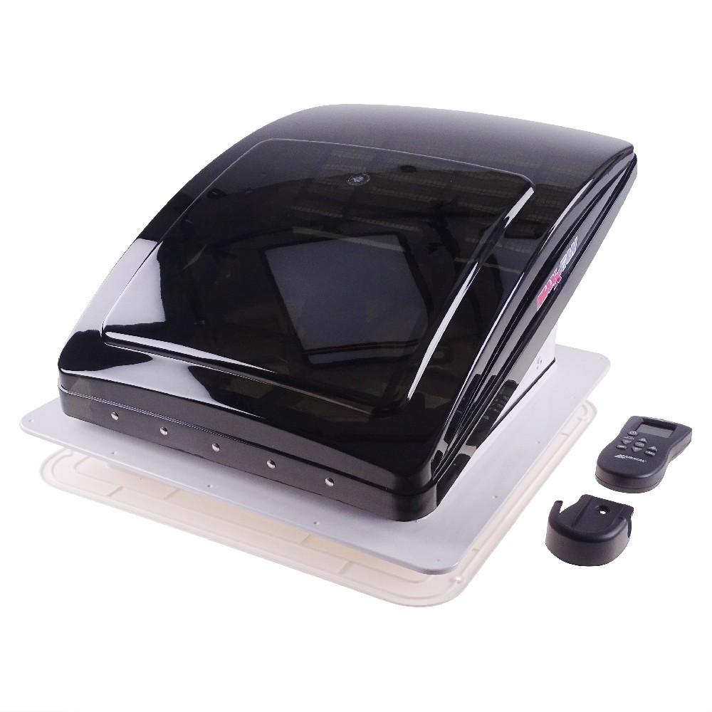 All weather RV Ventilator skylight MaxxFan Deluxe smoke lid