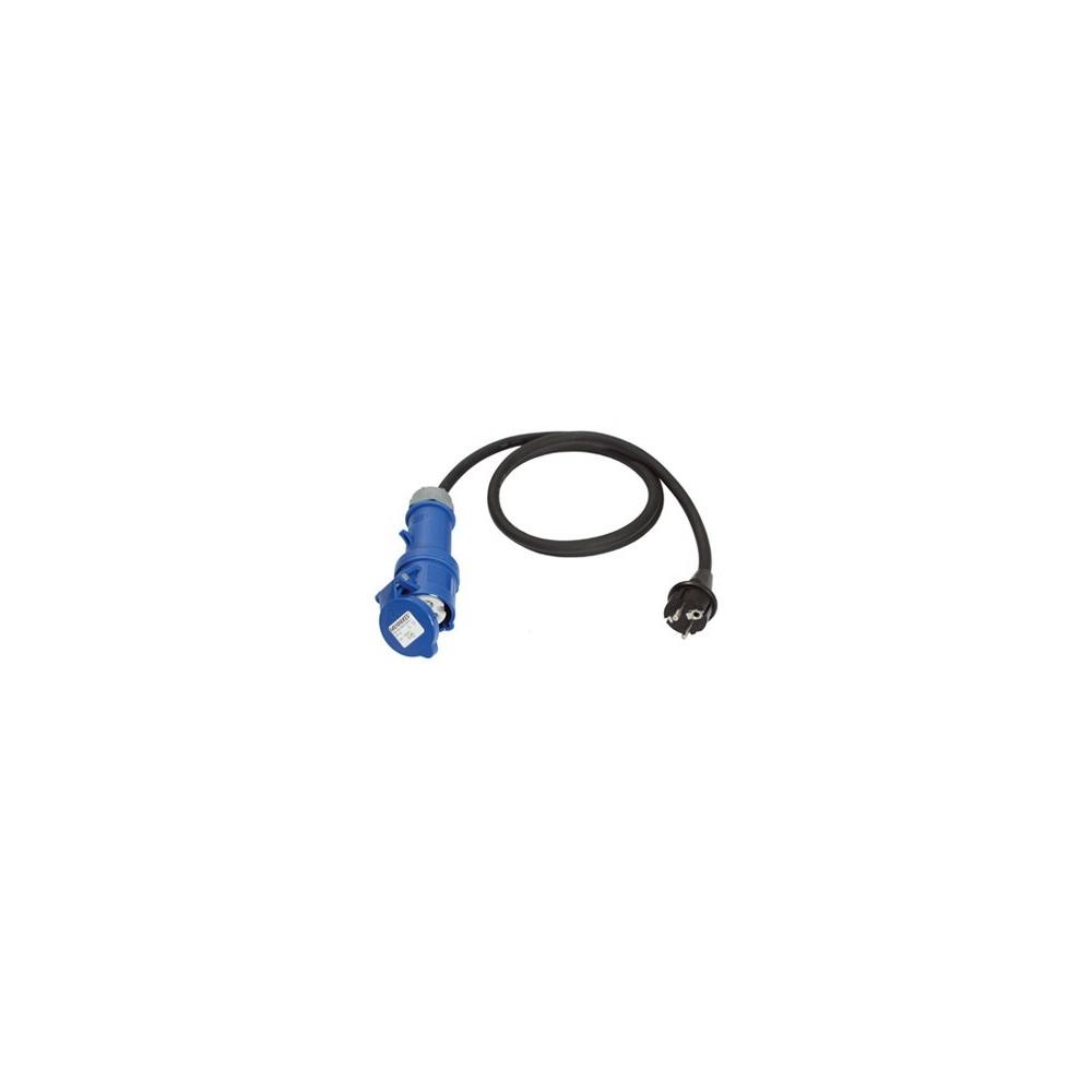 Câble adaptateur 1,5 m CEE Fiche de contact de type CEE à la terre