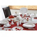 Gimex tableware set - 20-piece Product line High Line Edelweiss