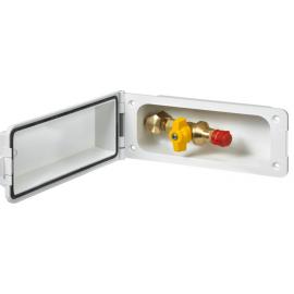 Clapet d'alimentation prise extérieure GOK gaz prise de sécurité blanc
