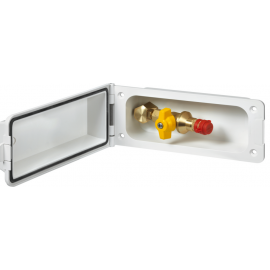 Supply flap Gas Outdoor socket Gas safety-socket white
