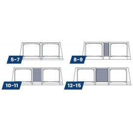 WIGO - Rolli Plus bag awning / roller awning - module frontwall