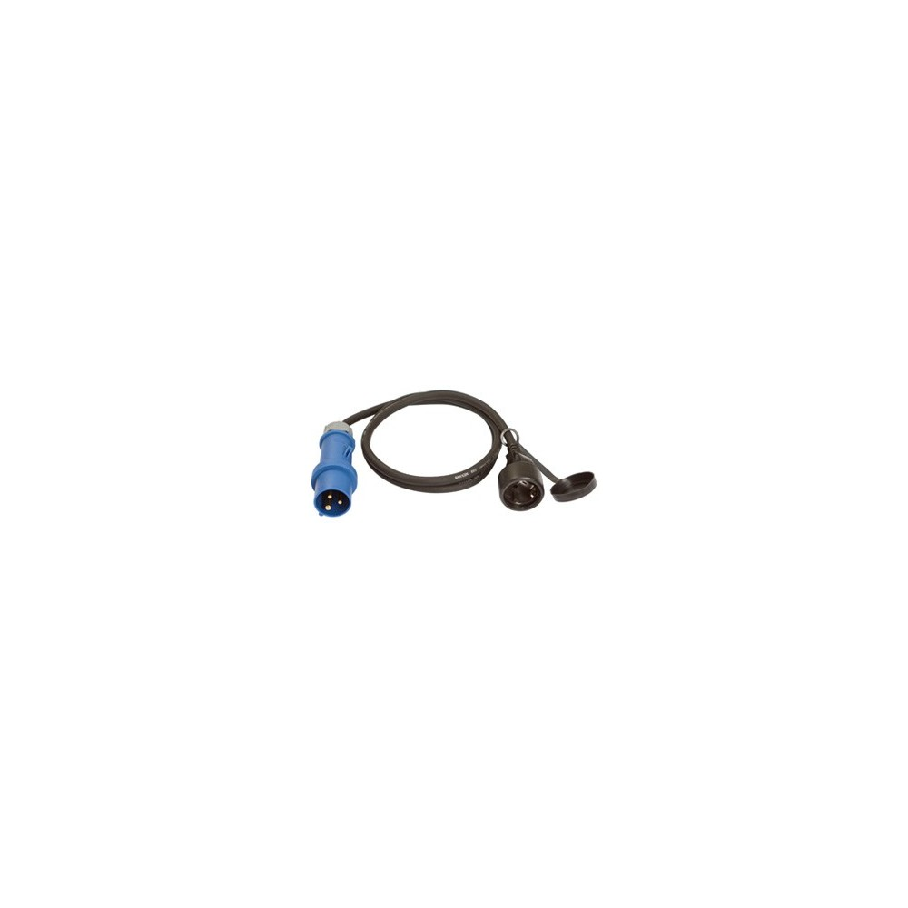 CEE adapter cable 1.0m CEE plug to SchuKo socket