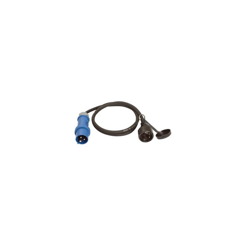 cee adapter kabel auf schutzkontakt dose camping kabeladapter. Black Bedroom Furniture Sets. Home Design Ideas