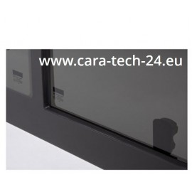 Tinted tempered sliding window VW Crafter from year 2018, 1488x713, front left, Carbest window