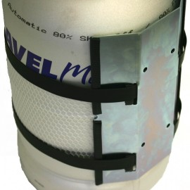 Doppel-Wandhalterung Gastankflasche Travelmate 11 kg EDELSTAHL