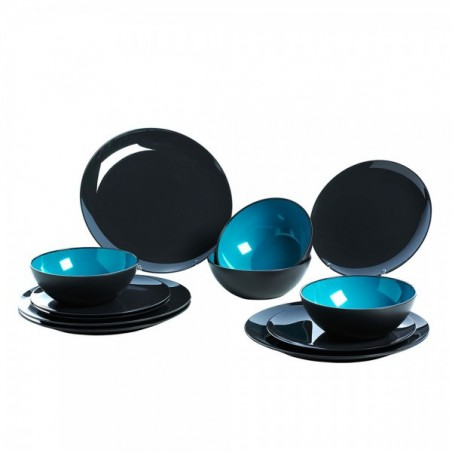 Gimex vaisselle en mélamine Grey Line - turquoise