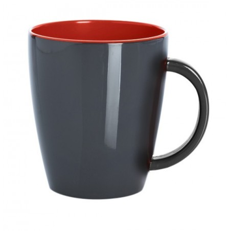 Mug Grey Line - Rouge