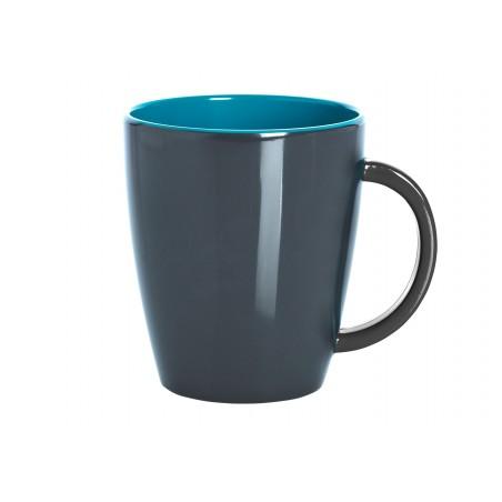 Mug / Grey Line - Turquoise-blue
