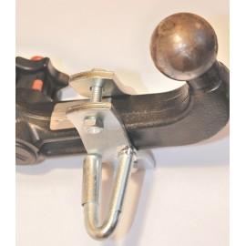 Support pour câble de rupture d'attelage, clip de sécurité (oeillet hollandais)