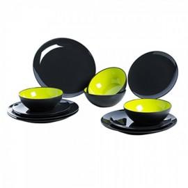 Gimex melamine tableware | Grey Line product line - Lime