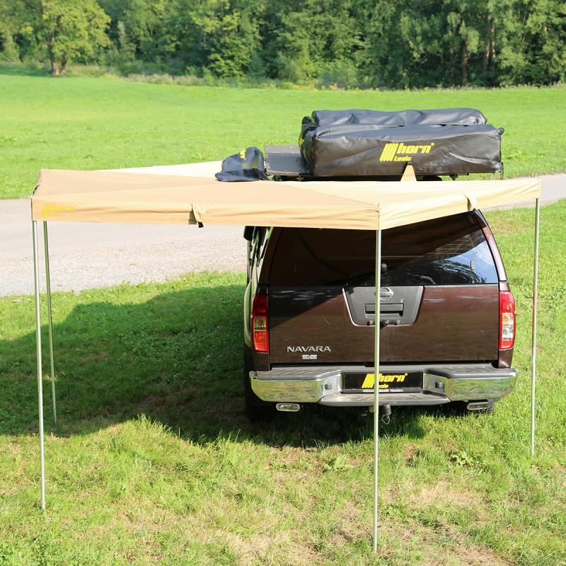 horntools markise eaglewing 250cm x 250cm sandfarben offroad vordach. Black Bedroom Furniture Sets. Home Design Ideas