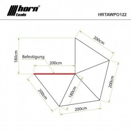 horntools - Einhäng Zelt Innenzelt für Markise Eaglewing 2,0x2,0m drawing
