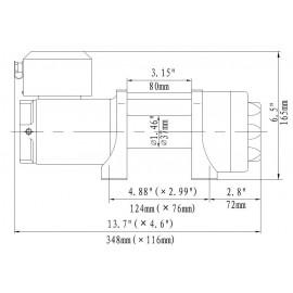 Seilwinde 1,6 t Gamma 3.5 ATV 12V Kunststoffseil horntools Elektrowinde